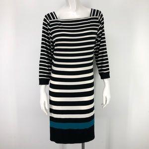White House Black Market L Striped Dress WHBM